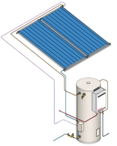 Split system solar hot water